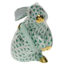 Herend Porcelain Fishnet Figurine of a Scratching Rabbit